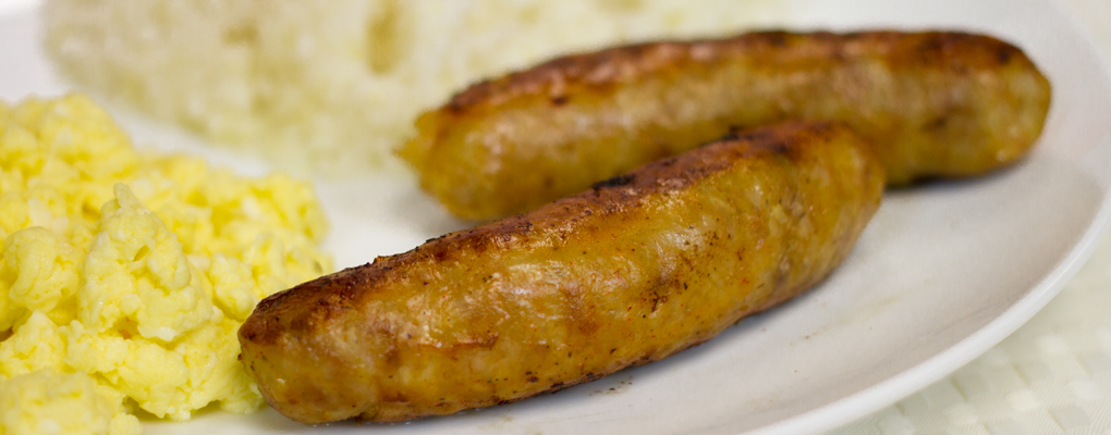 Cooked Link Breakfast Sausage – Morty Pride's part in the most important meal of the day.