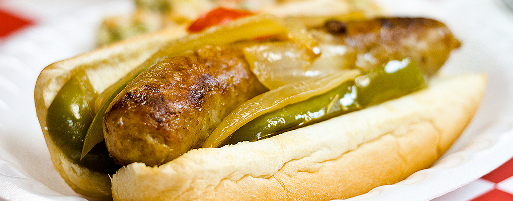 Cooked Italian Sausage – Hot off the grill and bursting with flavor.